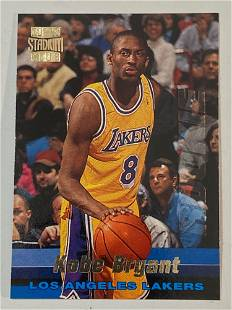 1996 Topps Stadium Club #R12 Kobe Bryant Rookie Card
