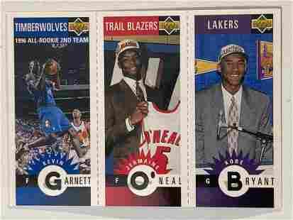 1996 Upper Deck Mini Kobe Bryant, Keven Garnett, O'Neal