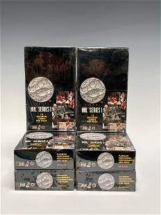 1991 NHL Pro Set Platinum Unopened Wax Boxes (6)