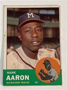 1963 Topps #390 Hank Aaron Braves
