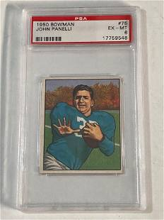 1950 Bowman #75 John Panelli PSA 6