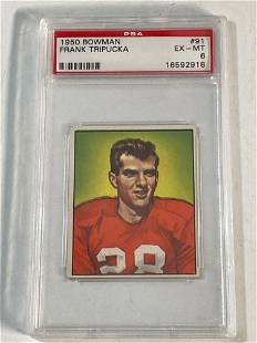 1950 Bowman #91 Frank Tripucka PSA 6
