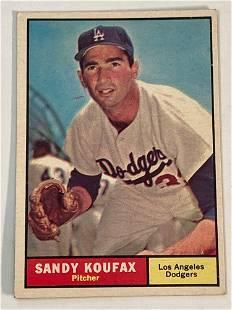 1961 Topps #344 Sandy Koufax LA Dodgers