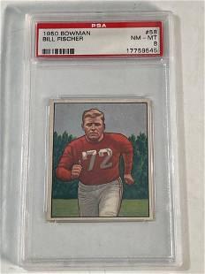 1950 Bowman #58 Bill Fischer PSA 8