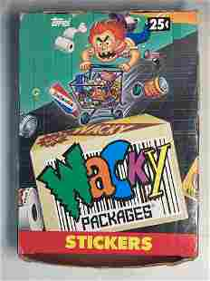 1990's Topps Wacky Packages Unopened Wax Box