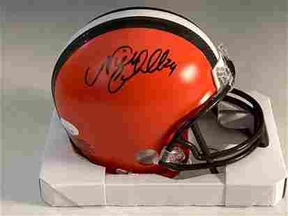 Nick Chubb Autographed Cleveland Browns Mini-Helmet