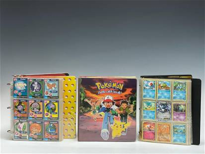 Three Albums of Pokemon Cards Large Collection