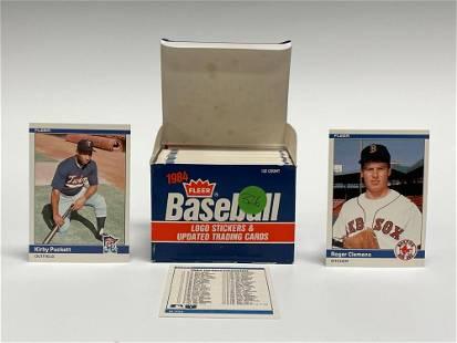 1984 Fleer Update Baseball Set w/ Puckett, Clemens