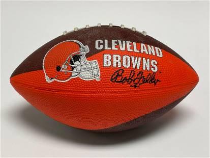 Bob Feller Autographed Cleveland Browns Football