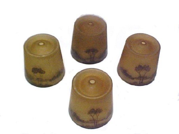 12: Set Of Four Shades Attributed To Moe Bridges,