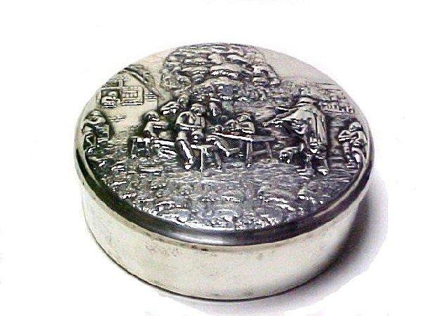 14: Silver Plated Dresser Box Marked Denmark,