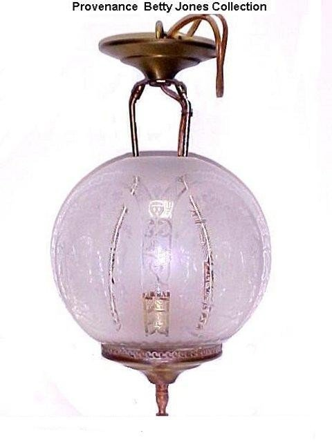 4: Crystal Etched Filigree Victorian Hall Light,