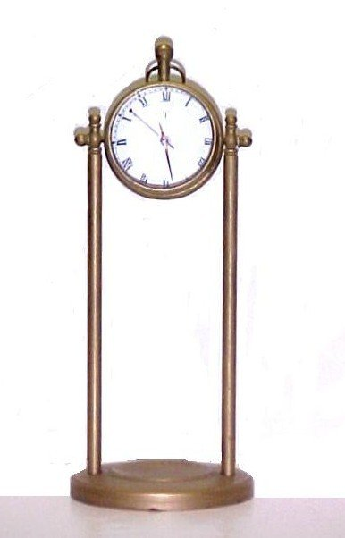 7: India Brass Roberts Post Hemispherical Clock