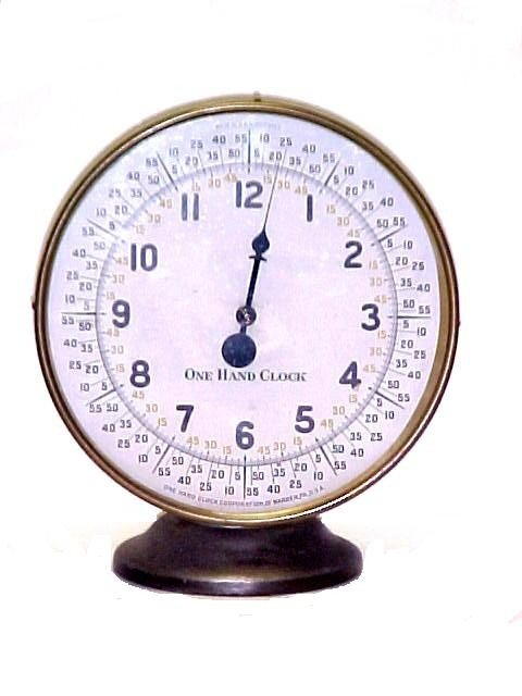 9: Unusual One Hand Brass Case Clock