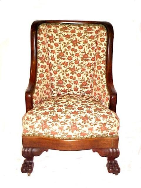 13: Great Ladies Empire Claw Foot Reading Chair,
