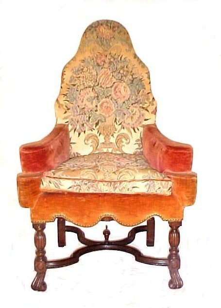 17: Unusual Form High Back Ladies Reading Chair,