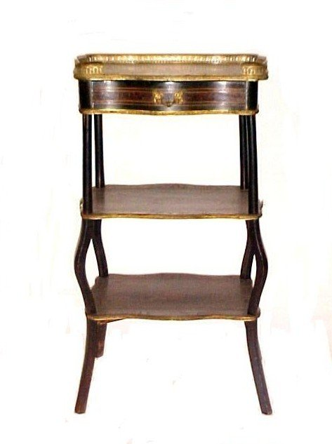 21: French Inlaid And  Ebonized Hall Stand,