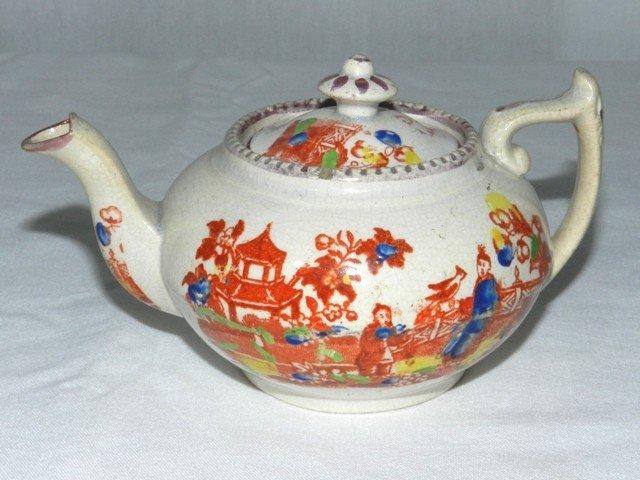 2: Staffordshire Childs Tea Pot - ca.1860's
