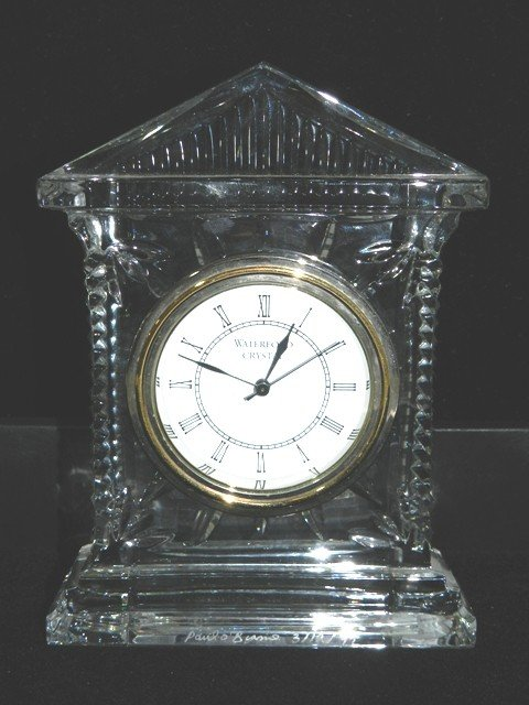 3: Artist Signed Waterford Crystal Clock