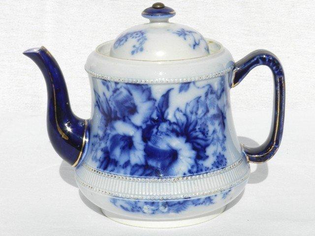 5: Carlton Ware Flow Blue Petunia Tea Pot