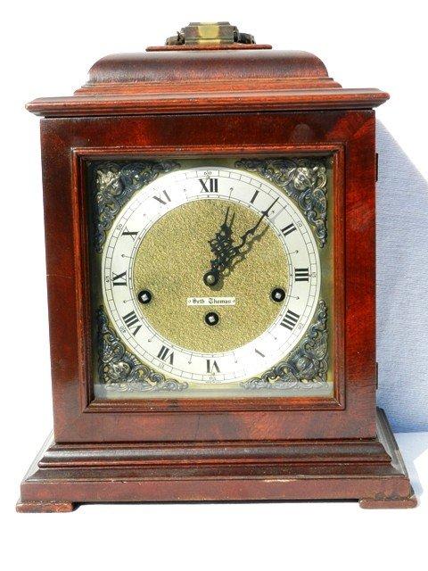 11: Seth Thomas Shelf Clock In Mahogany Case