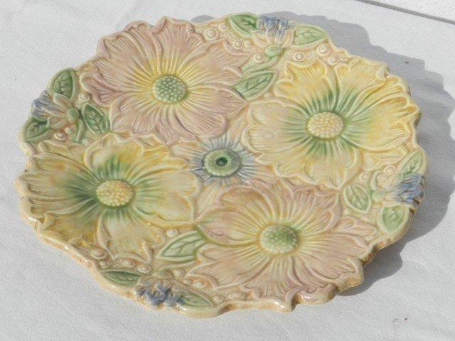 12: English Ceramic Majolica Style Plate