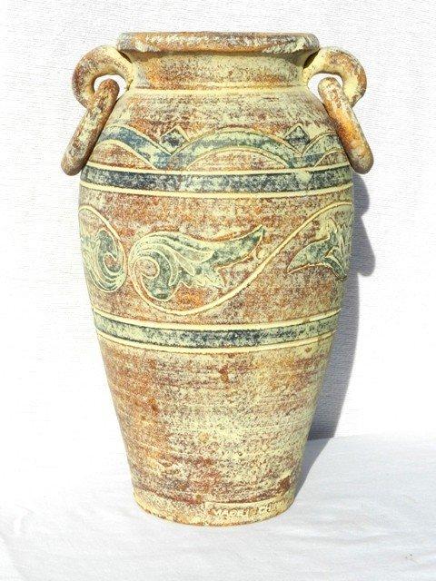 "13: 13"" Tall Decorative Stoneware Vessel"