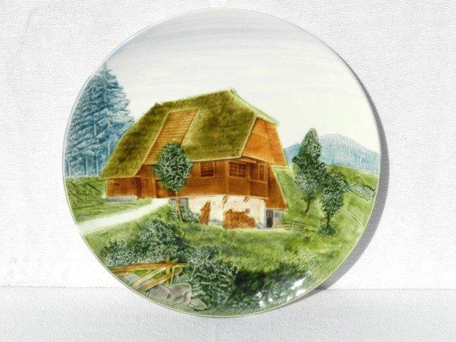 18: German Farm Landscape Decorated Charger