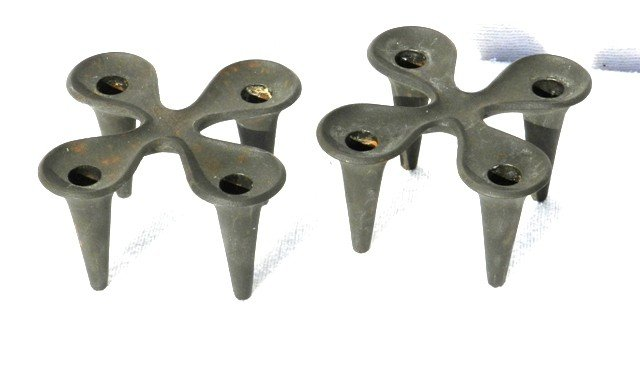 19: Pair of Primitive Danish Candle Stands