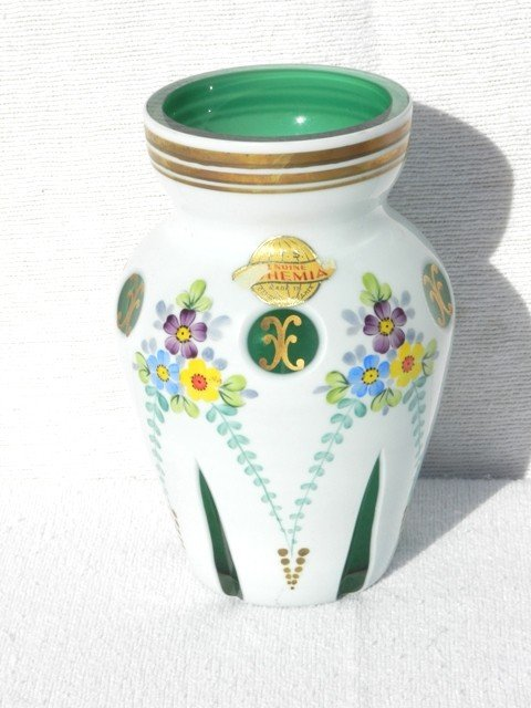 20: Bohemian Cut Glass Vase