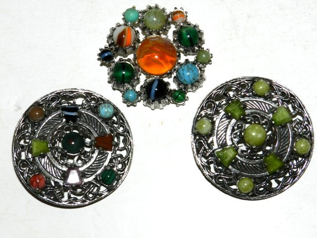 6: 3 ESTATE Celtic Miracle Brooches