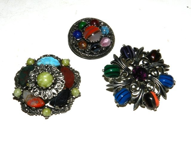 10: 3 ESTATE Celtic Miracle Brooches