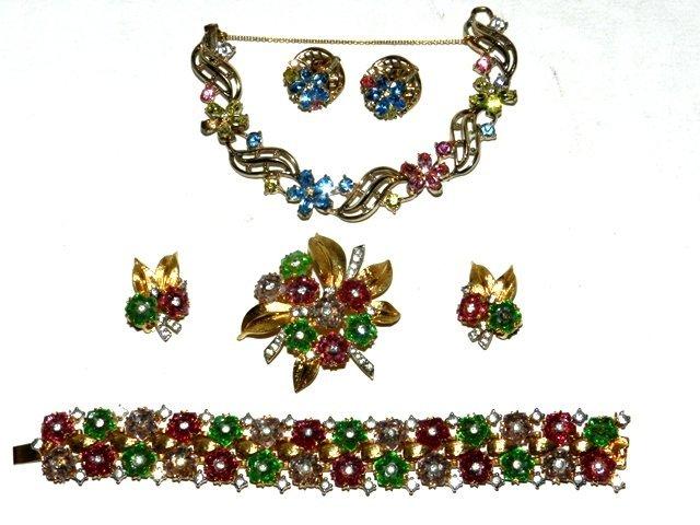 16: ESTATE Joseph Mazer & Trifari Costume Jewelry