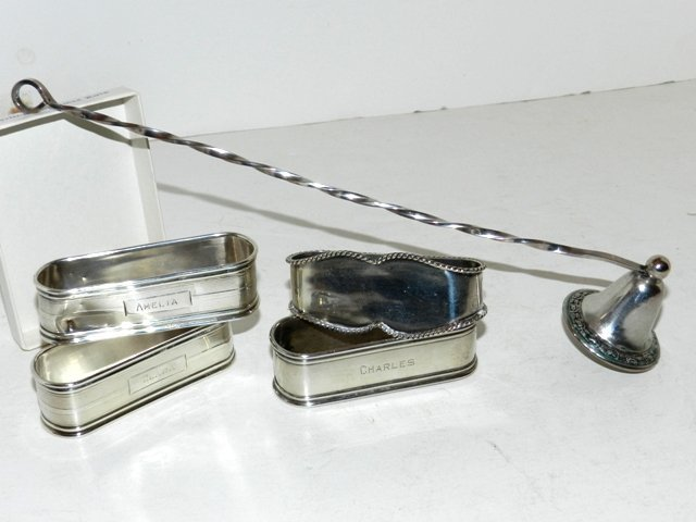22: Harding Estate Sterling Silver Lot- Candle Snuff