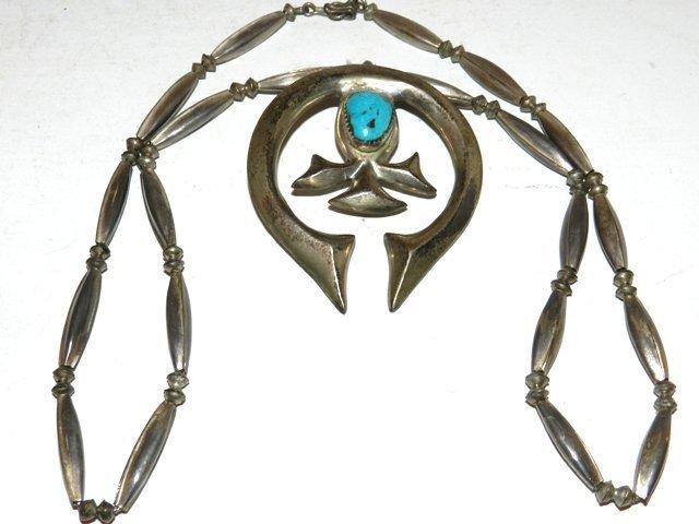 73: ESTATE -Squash Blossom Indian Necklace