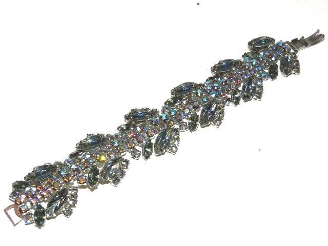 76: Iridescent Rhinestone Bracelet