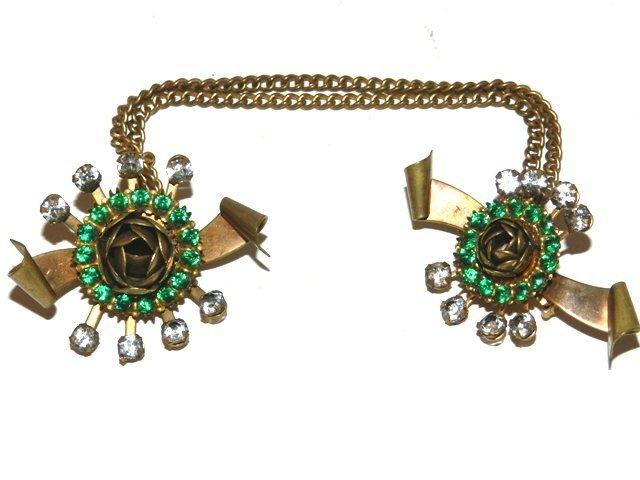 79: Unique Vintage Double Brooch