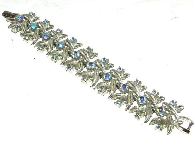 80: Coro Iridescent Rhinestone Bracelet