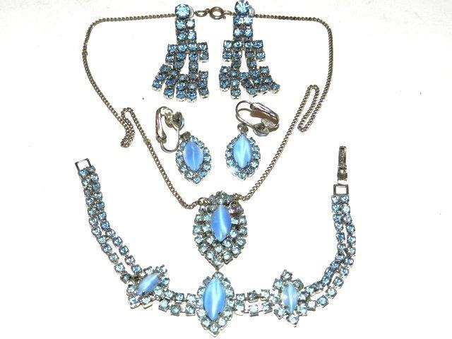 85: Opal & Blue Rhinestone Collection Lot