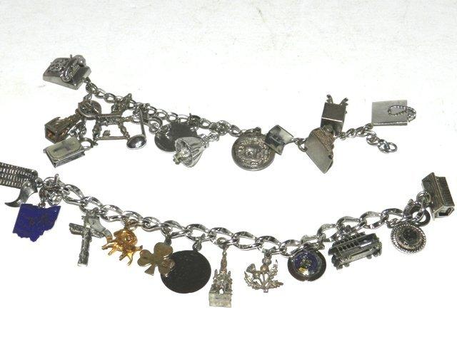 95: 2 Sterling Silver Charm Bracelets