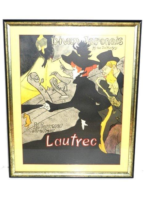 """96: Toulouse Loutrec """"Divan Japonais"""" French Deco"""