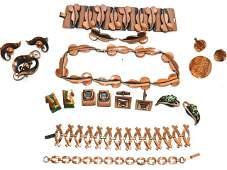 141 Renoir  Matisse Copper Jewelry Group