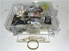 155: Weiss, Rhinestones, Cuffs and Jewelry Lot
