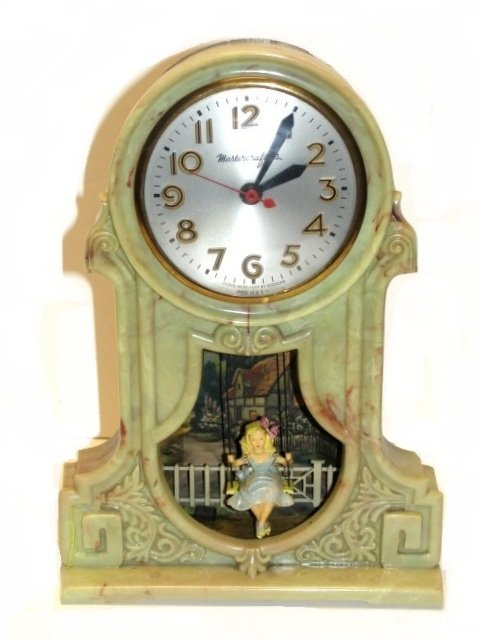 20B: Master Crafters Swinging Girl Motion Clock