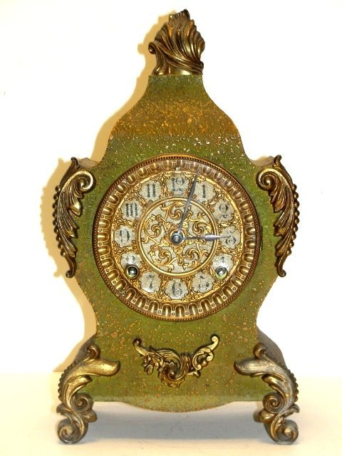 20D: Victorian French Cast Ornate Mantle Clock