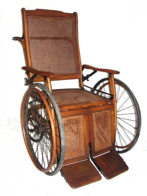 80A: Vintage Wheelchair By The Gendron Wheel Co