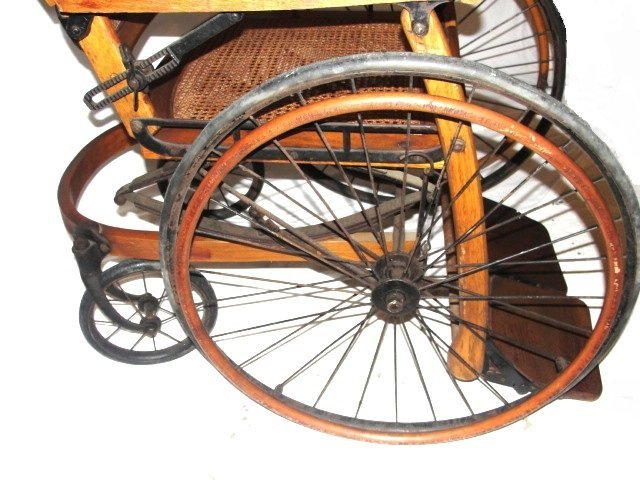 80A: Vintage Wheelchair By The Gendron Wheel Co - 4