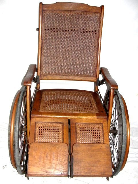 80A: Vintage Wheelchair By The Gendron Wheel Co - 6