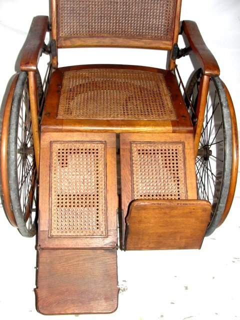 80A: Vintage Wheelchair By The Gendron Wheel Co - 7