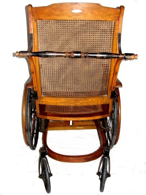 80A: Vintage Wheelchair By The Gendron Wheel Co - 9